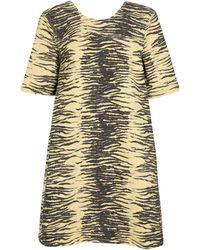 Ganni Mini-robe en denim imprimé tigre - Noir