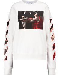 Off-White c/o Virgil Abloh Sweatshirt aus Baumwolle - Weiß