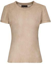 Stouls S.05 T-Shirt aus Veloursleder - Pink