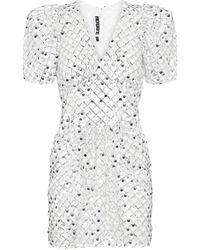 ROTATE BIRGER CHRISTENSEN Alma Metallic Midi Dress
