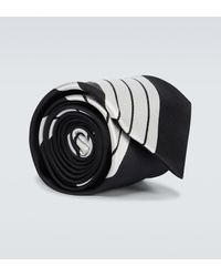 Comme des Garçons Gestreifte Krawatte aus Seide - Mehrfarbig