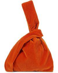 Nanushka Sac Jen Small en velours - Orange