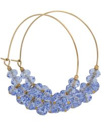 Isabel Marant Argollas Polly con abalorios - Azul