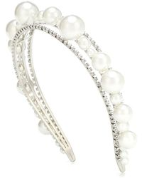 Givenchy Cerchietto Ariana con perle e cristalli - Bianco