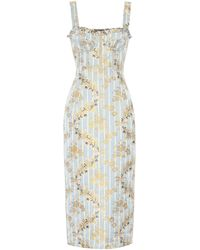 Brock Collection Cotton-blend Midi Dress - Blue