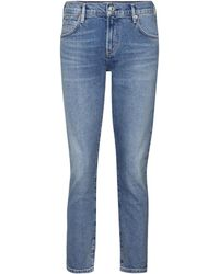 Citizens of Humanity Mid-Rise Slim Jeans Elsa - Blau