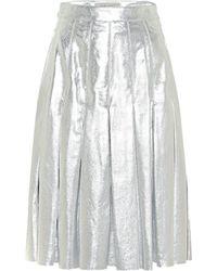 Golden Goose Deluxe Brand Anastasia Metallic Leather Miniskirt