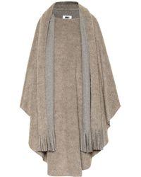 MM6 by Maison Martin Margiela Wool And Alpaca-blend Cape - Multicolour