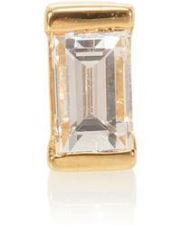 Maria Tash - Diamond Baguette 18kt Gold Single Earring With Diamond - Lyst