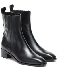 Aeyde Neil Leather Ankle Boots - Black