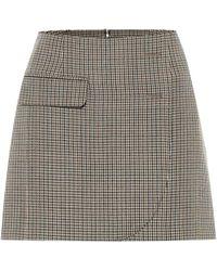 Vetements Minifalda de lana virgen - Marrón