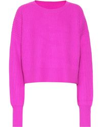 RE/DONE - Wool And Cashmere Cropped Sweater - Lyst