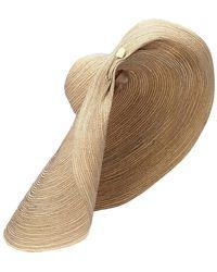 Lola Hats Cappello Giga Spinner in rafia - Multicolore