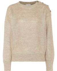 Brunello Cucinelli Linen And Silk Sweater - Natural