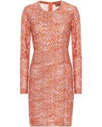Missoni Striped Knit Minidress - Orange