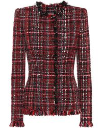 Alexander McQueen - Tailored Tweed Long Sleeve Jacket - Lyst