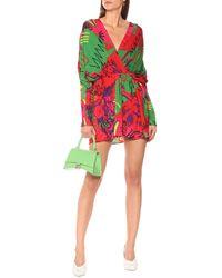Balenciaga Printed Minidress - Red