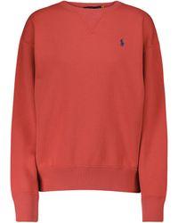 Polo Ralph Lauren Sweatshirt aus einem Baumwollgemisch - Rot