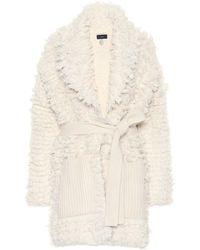 Alanui Cardigan in lana - Bianco