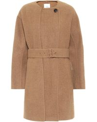 Agnona Belted Camel Coat - Natural