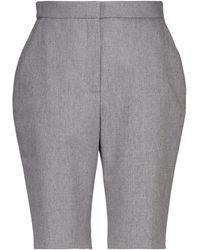 Balmain Shorts ciclistas de lana elastizada - Gris