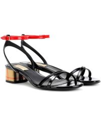 Burberry - Anthea Leather Sandals - Lyst