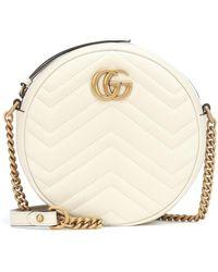 Gucci - Mini borsa a spalla rotonda GG Marmont - Lyst