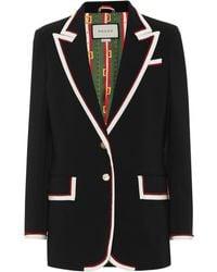 Gucci Stretch-viscose Jacket - Black