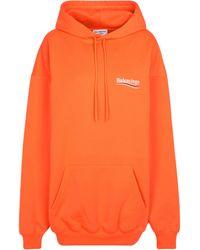 Balenciaga Bedruckter Hoodie aus Jersey - Orange