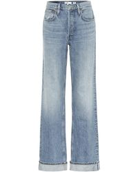 RE/DONE '90s Relaxed Mid-rise Straight Jeans - Blue