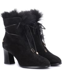 Roger Vivier - Chunky Trompette Suede Ankle Boots - Lyst