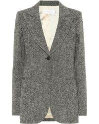 Victoria Beckham Blazer Donegal en tweed de laine - Noir