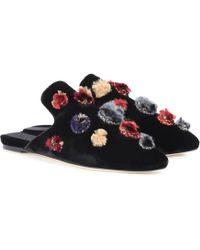 Sanayi 313 - Crostata Embellished Velvet Slippers - Lyst