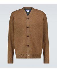 Junya Watanabe Wool V-neck Cardigan - Brown