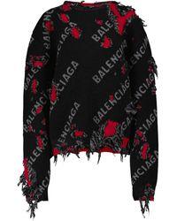 Balenciaga Pullover aus einem Wollgemisch - Schwarz