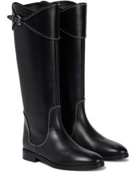 Alaïa Leather Knee-high Boots - Black