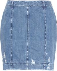 Public School Mini-jupe en jean Gil Edgar - Bleu