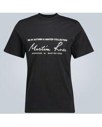 Martine Rose Logo Printed Short-sleeved T-shirt - Black
