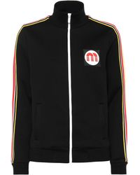 Miu Miu - Veste de survêtement en jersey stretch - Lyst