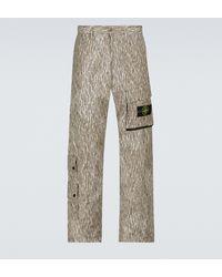Stone Island Pantalones cargo Rain Camo Reflective - Neutro