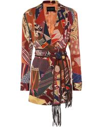 Etro Giacca a stampa in satin - Rosso