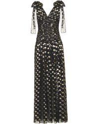 0edef9d03b Dolce & Gabbana - Vestido de noche metalizado con motivo de lunares - Lyst