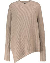Petar Petrov Nacha Asymmetric Cashmere Sweater - Gray