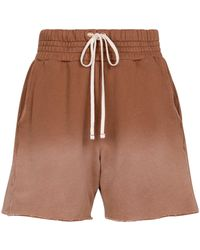 Les Tien Shorts aus Baumwoll-Jersey - Braun