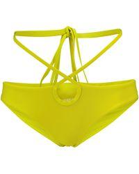 Christopher Esber Wraparound Bikini Bottoms - Green