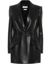 Alexander McQueen Studded Leather Blazer - Black