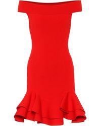 Alexander McQueen Off-shoulder Minidress - Red