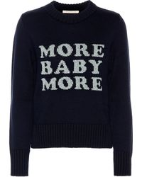 Christopher Kane More Baby More Wool Sweater - Blue