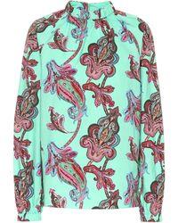 Tibi Paisley-printed Cotton Top - Multicolor