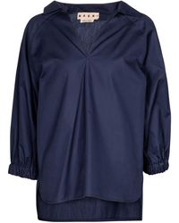 Marni Top aus Baumwolle - Blau